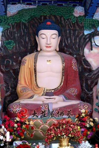 铜雕彩绘佛像-释迦牟尼