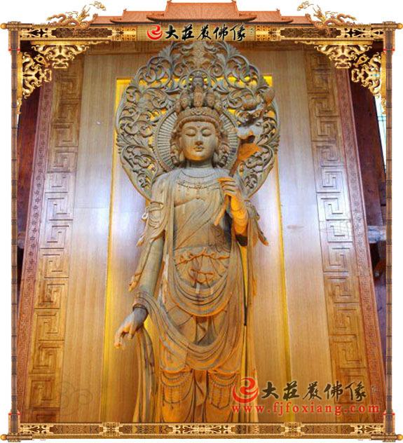木雕观世音菩萨