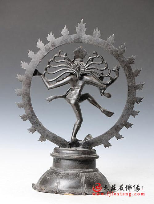 湿婆铜雕神像(反面)