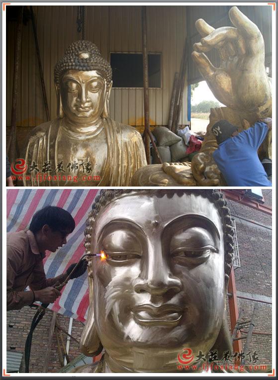 释迦佛头部电焊-铸铜佛像