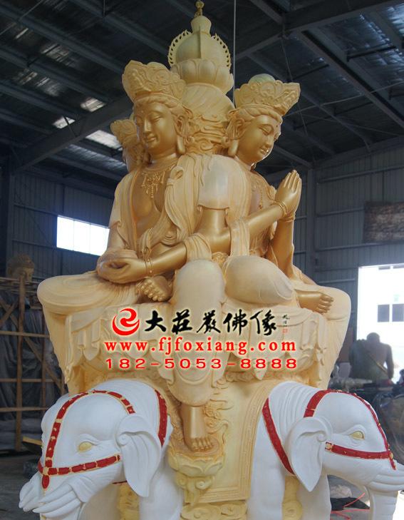 十方普贤塑像