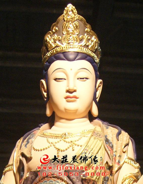彩绘描金八大菩萨之文殊菩萨