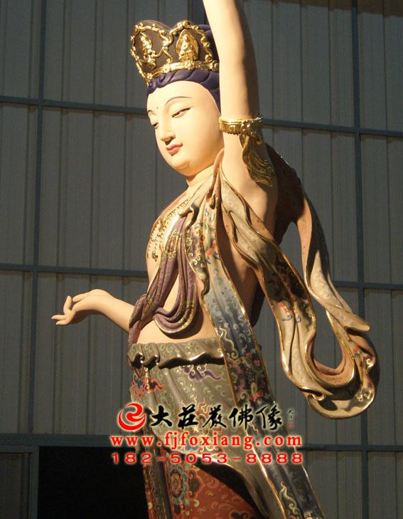 彩绘描金八大菩萨之虚空藏菩萨
