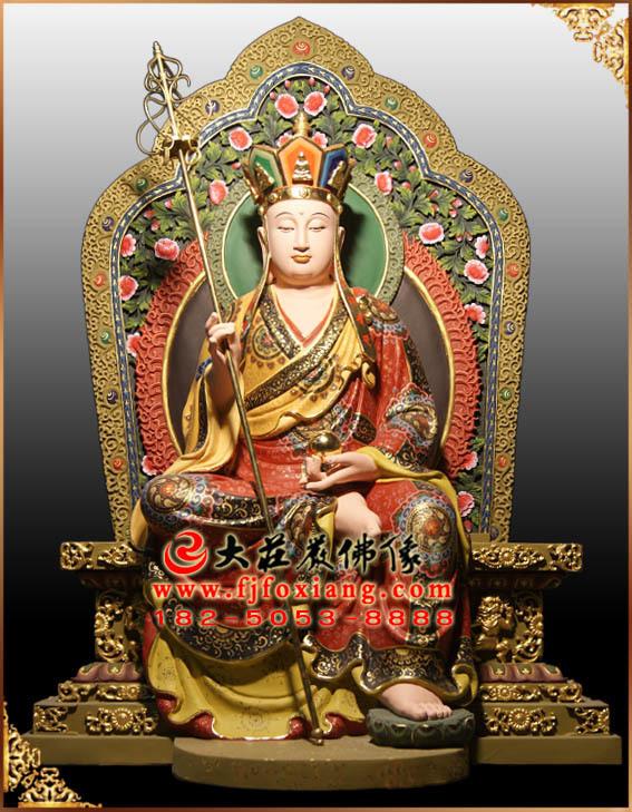地藏王菩萨彩绘塑像