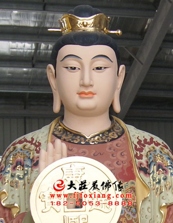 郑二铜雕彩绘塑像