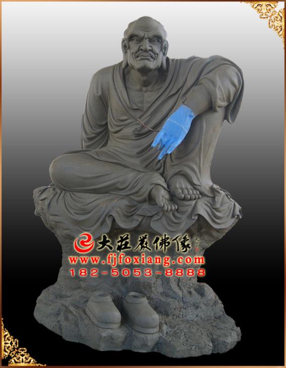 十八罗汉——罗怙罗尊者泥塑像