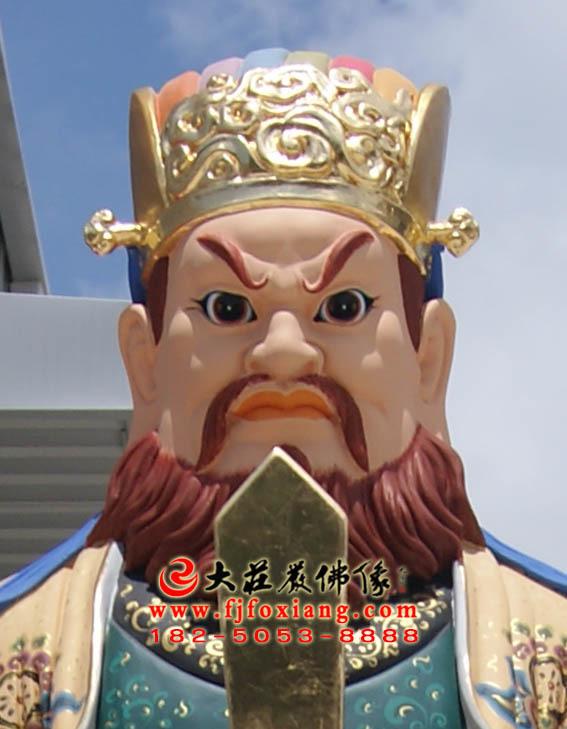 二十诸天之阎摩罗王彩绘塑像