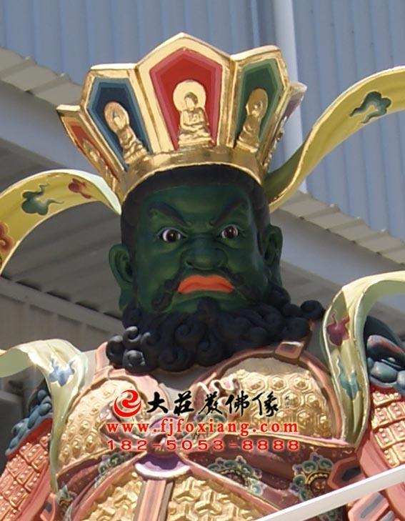 二十诸天之南增长天王塑像