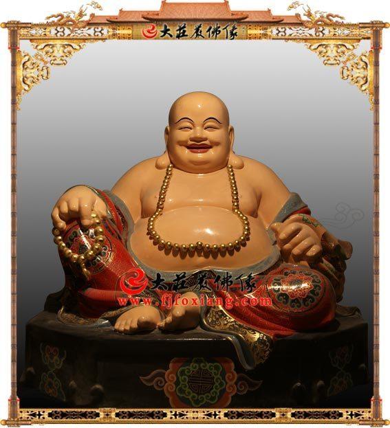 铜雕弥勒佛像
