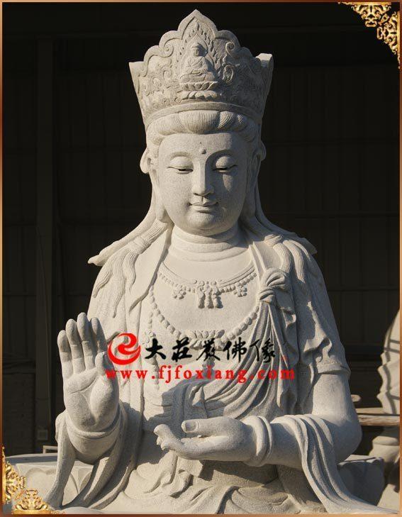 弥勒佛石雕像