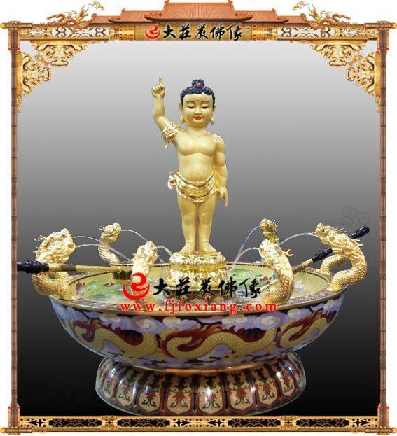 浴佛节浴佛铜像