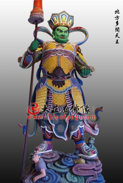 铜雕彩绘四大天王