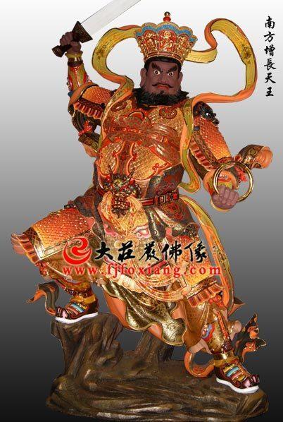 铜雕极彩四大天王之南方增长