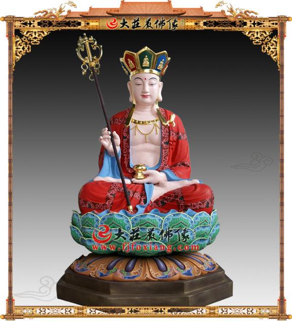 地藏王菩萨,脱胎彩绘座