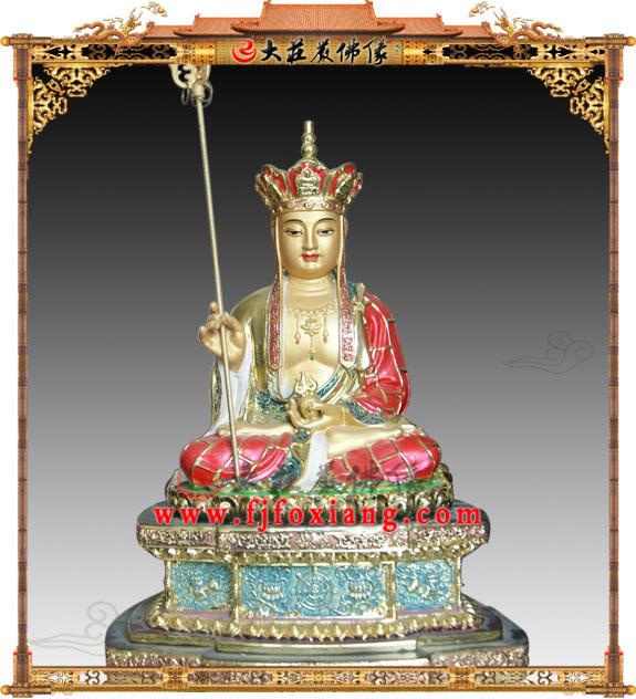 地藏王菩萨,铜雕彩绘佛像