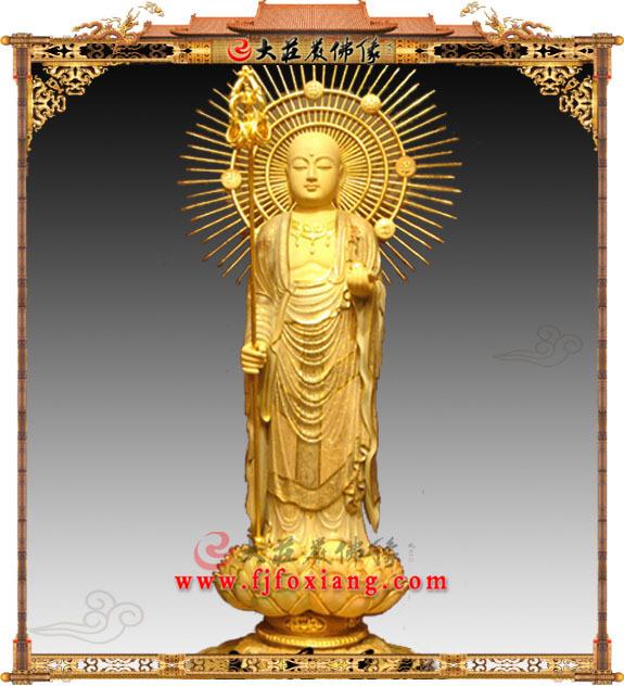 地藏王菩萨木雕佛像
