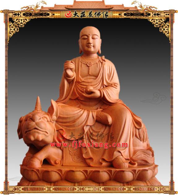 地藏王菩萨木雕工艺品