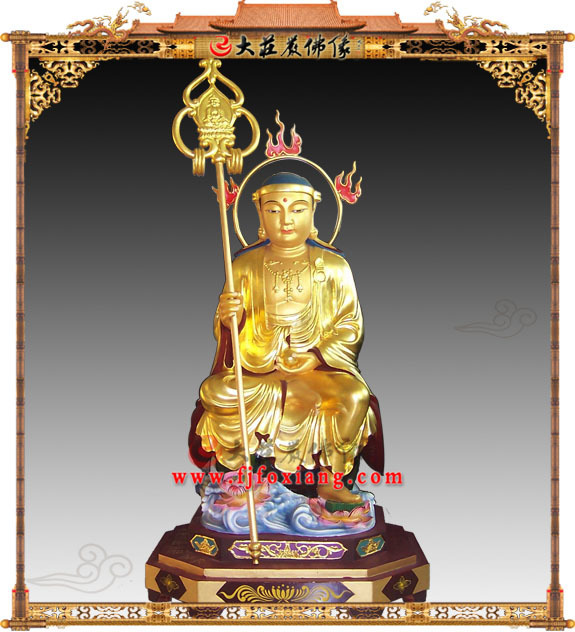 铜雕贴金韩国式地藏王菩萨