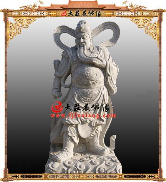 关公石雕伽蓝菩萨佛像