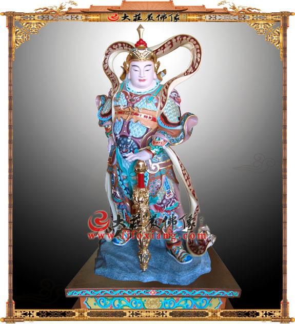 韦陀护法神玻璃钢彩绘佛像