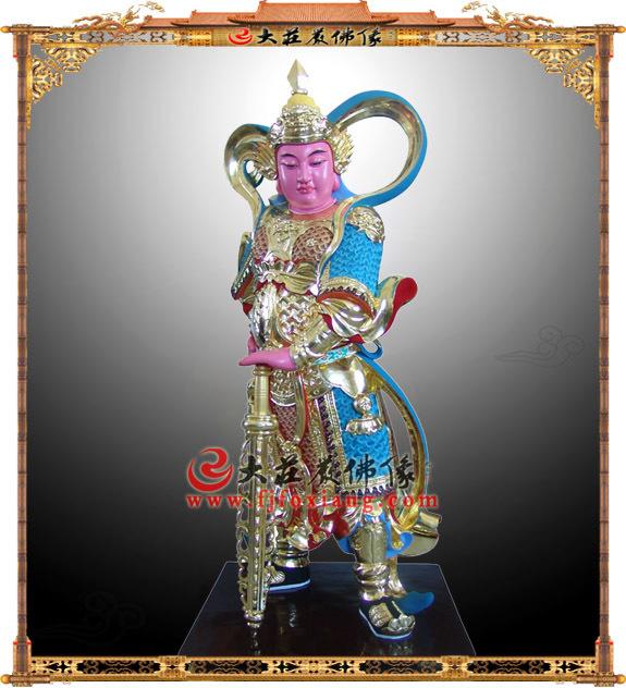 韦陀护法神脱胎彩绘佛像