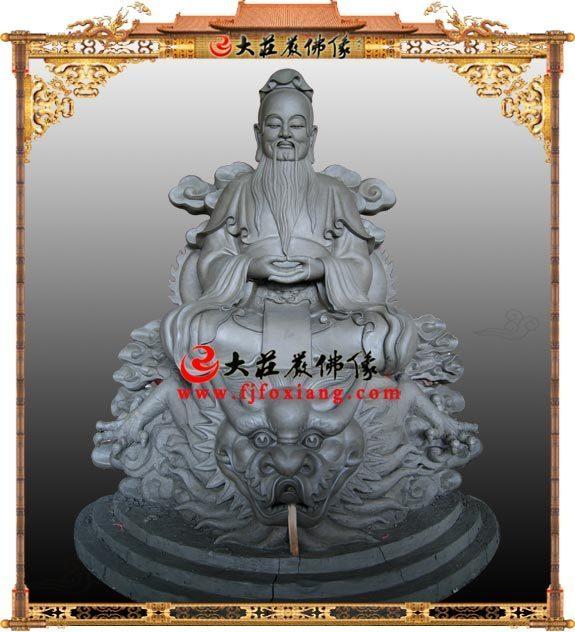 鸿钧老祖泥塑道教神像