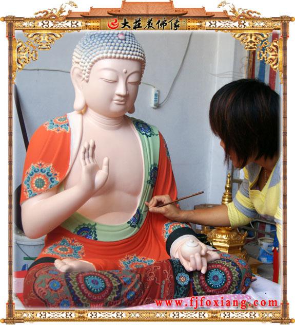 彩绘佛像施工