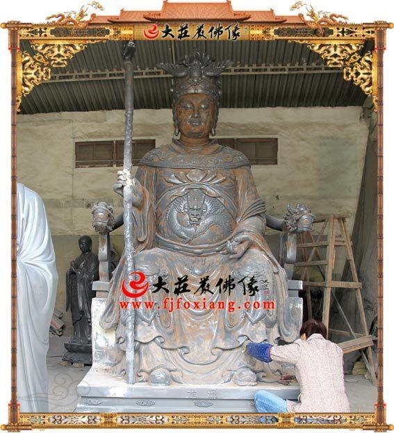 龙母庙龙母娘娘铜雕佛像