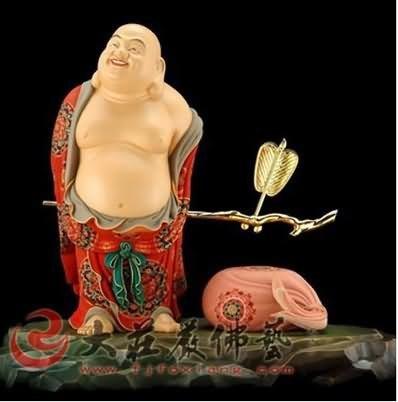 铜雕弥勒菩萨-放下