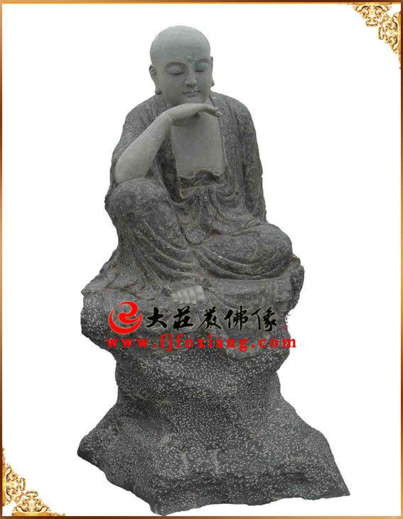 青石石雕十八罗汉之沉思罗汉
