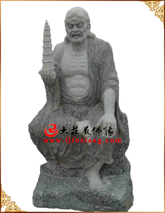 石雕十八罗汉之托塔罗汉