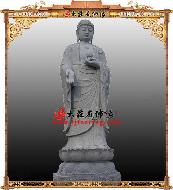 石雕阿弥陀佛,青石雕刻