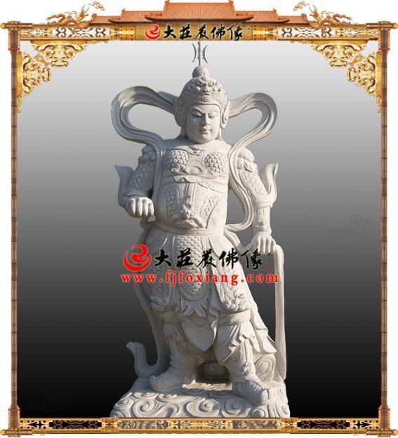 韦驮菩萨,石材雕刻佛像