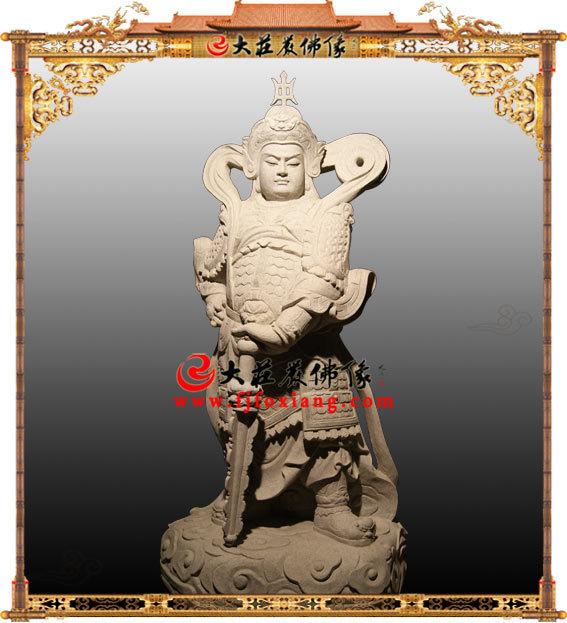 韦驮菩萨,石雕佛像