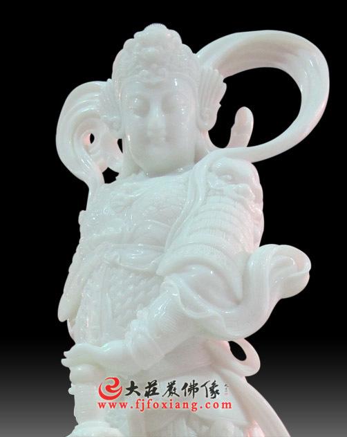 韦驮菩萨玉雕工艺