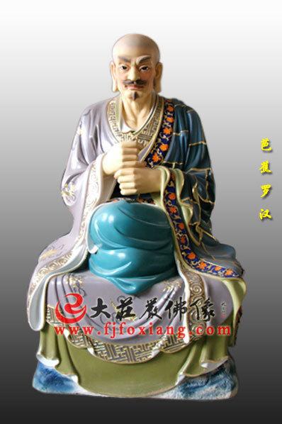 木雕彩绘十八罗汉之芭蕉罗汉