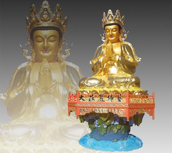 铜雕贴金五方佛之毗卢遮那佛