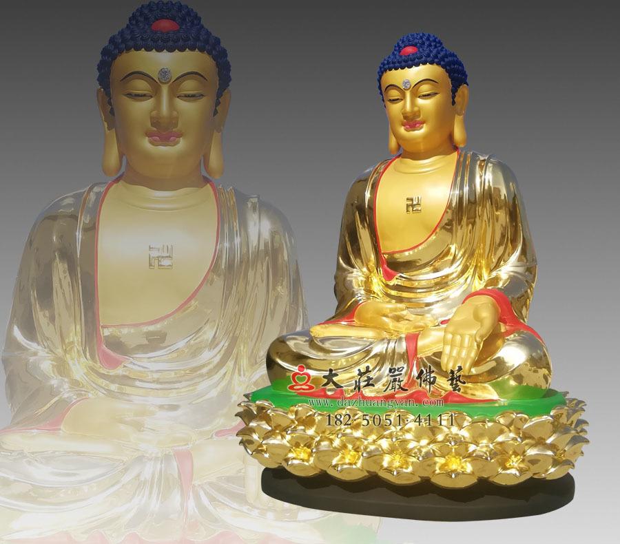 铜雕五方佛之东方阿閦佛侧面佛像