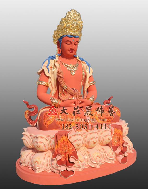 五方佛之彩绘贴金阿弥陀佛