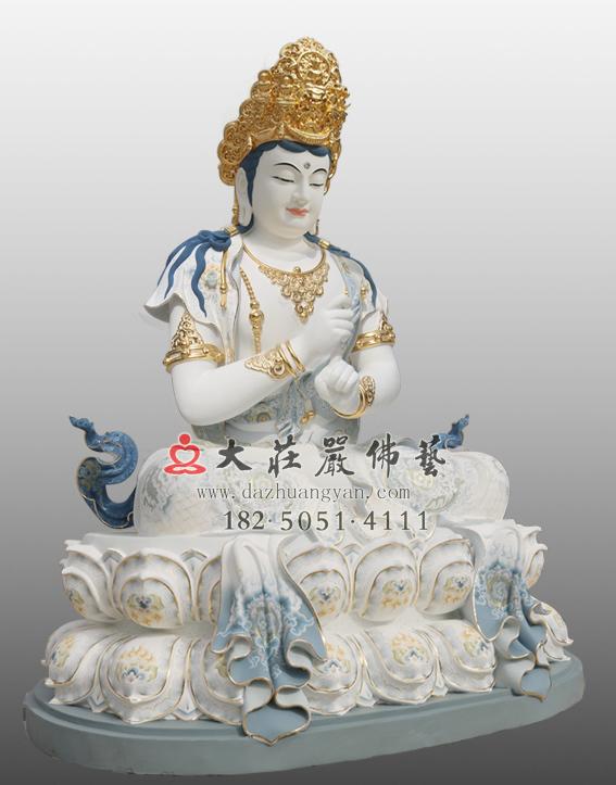 铜雕彩绘五方佛之毗卢遮那佛