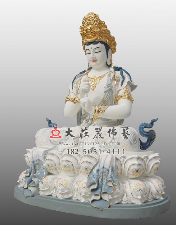 铜雕五方佛之毗卢遮那佛彩绘佛像