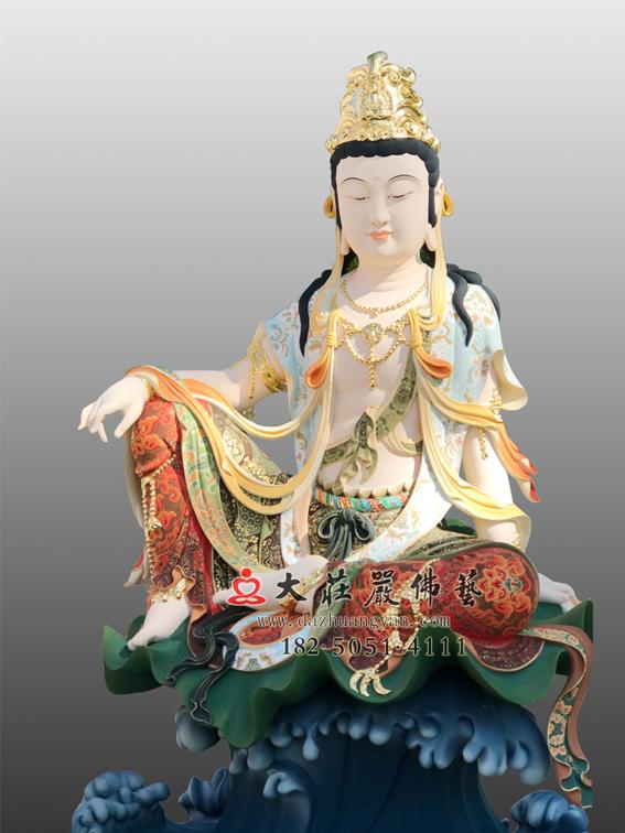 生漆脱胎自在观音彩绘佛像
