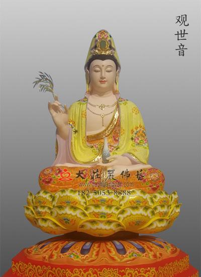 观世音菩萨彩绘佛像