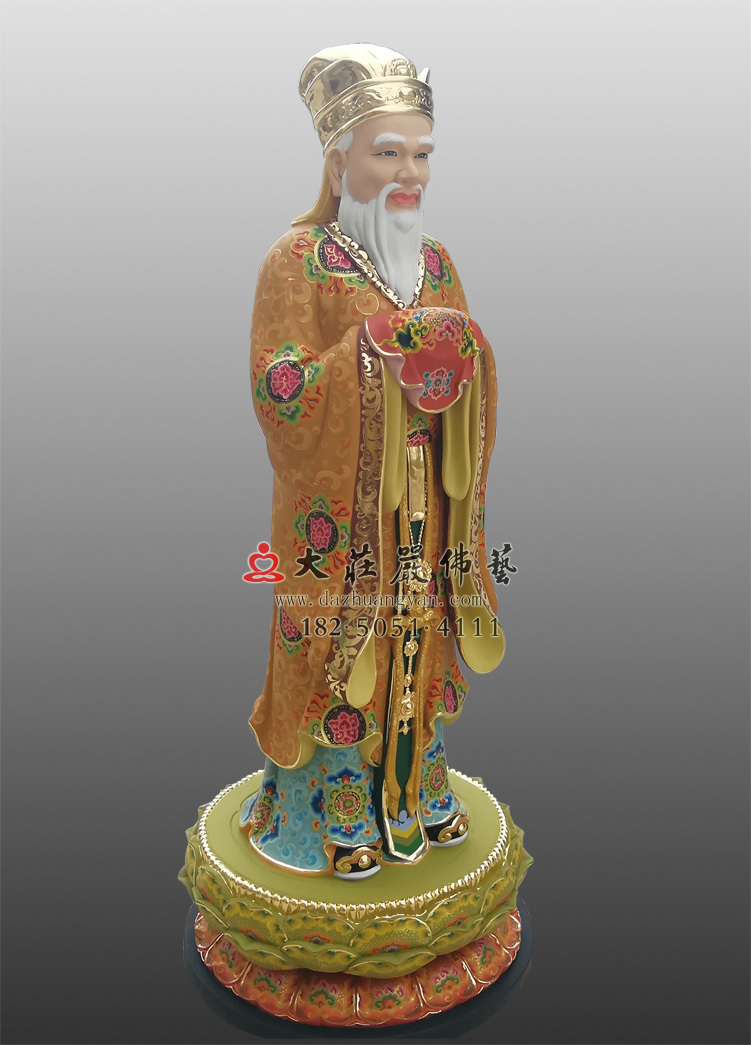彩绘闵公塑像