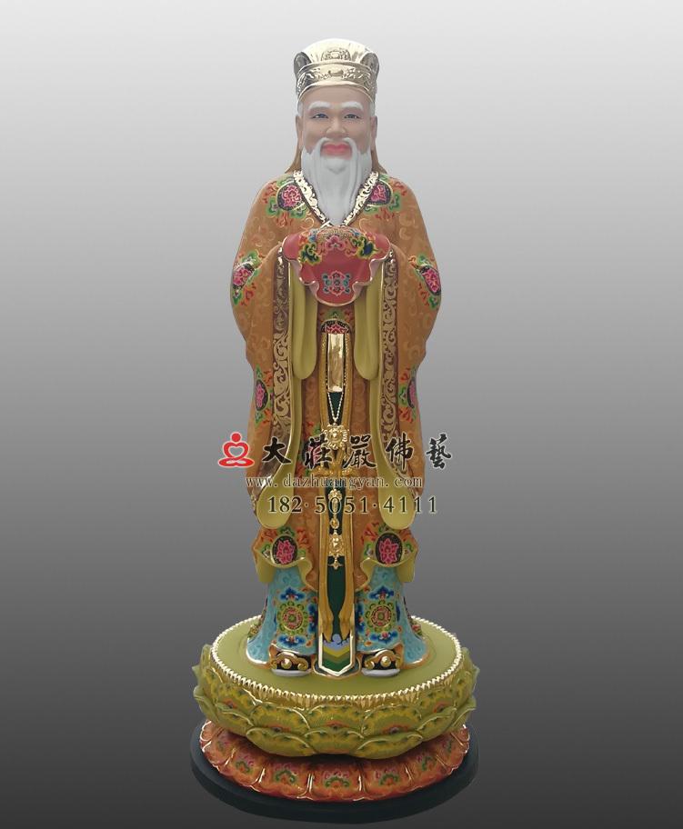 闵公彩绘塑像
