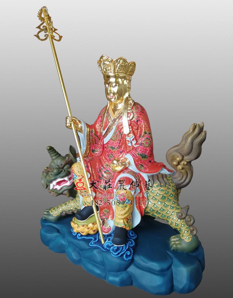 地藏菩萨彩绘贴金佛像