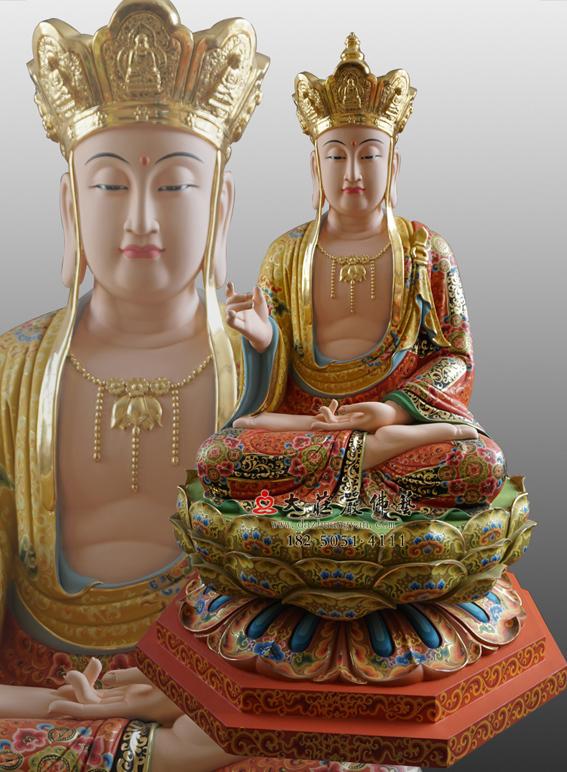 彩绘描金地藏菩萨