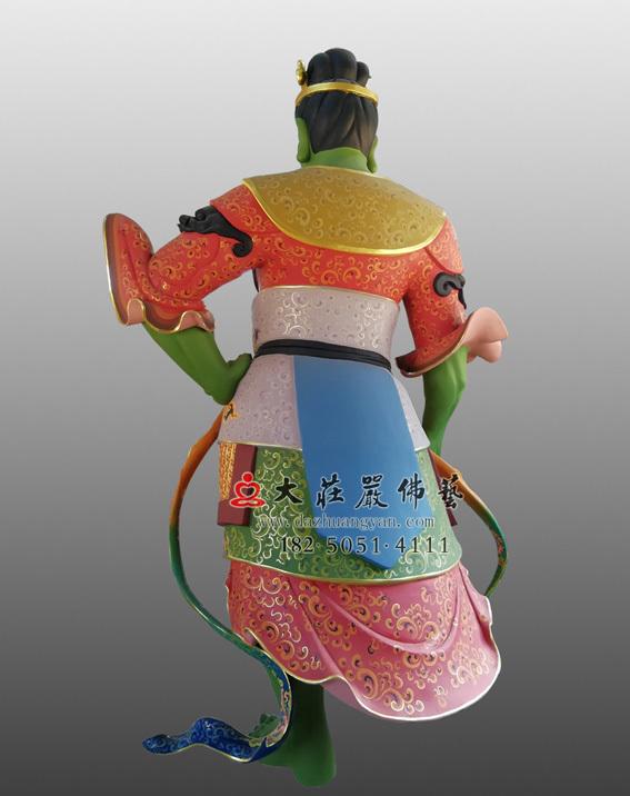 四大天王之八大眷属背部彩绘塑像