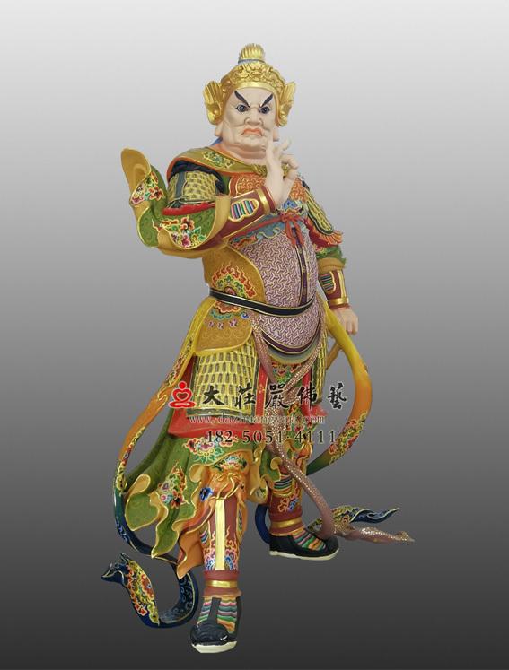 铜雕彩绘四大天王之八大眷属