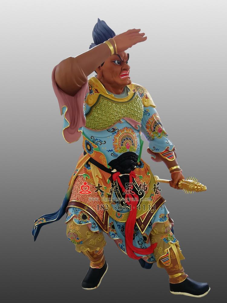 四大天王之八大眷属彩绘佛像